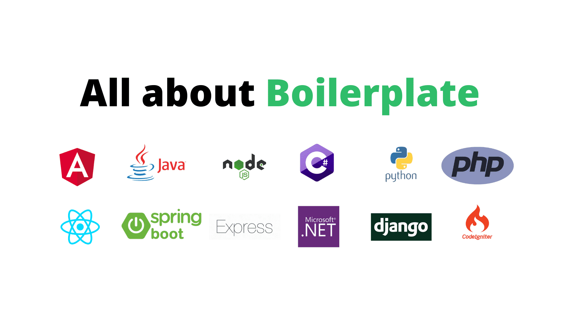 How to Write boilerplate in Java, Python, NodeJS What its Syntax