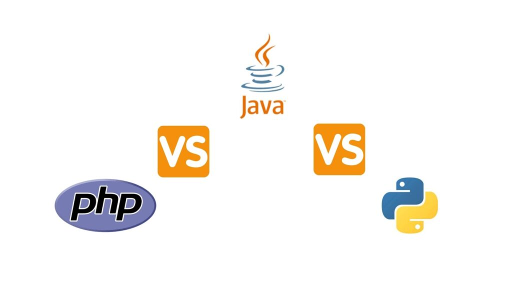 What is the difference between PHP vs Java vs Python?
