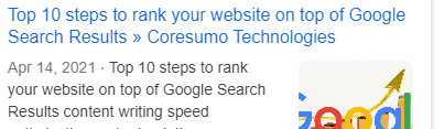 Top 10 steps rank website top Google Search Results