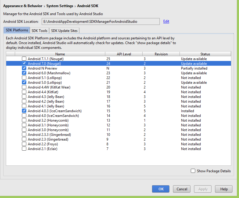 Install Android Studio and SDK Manager