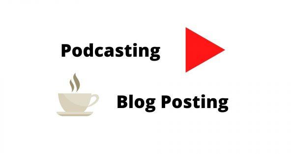 Difference Podcasting vs Blog Posting Article