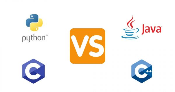 What is the difference b/w Python vs Java vs C vs C++?